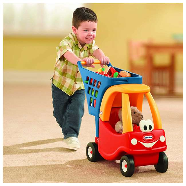 618338M Little Tikes Cozy Coupe Kids Grocery Shopping Cart, Red (2 Pack) 2