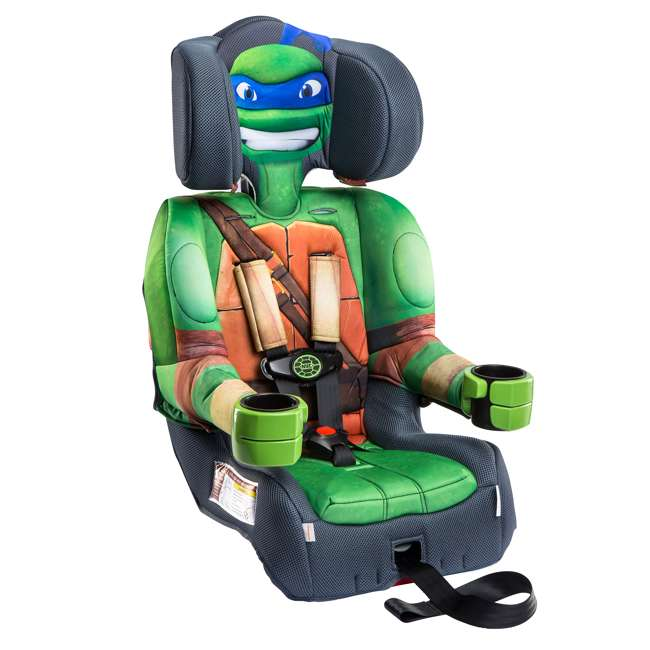 KE-65500LEO KidsEmbrace Teenage Mutant Ninja Turtles Leo Harness Booster Car Seat (2 Pack) 2