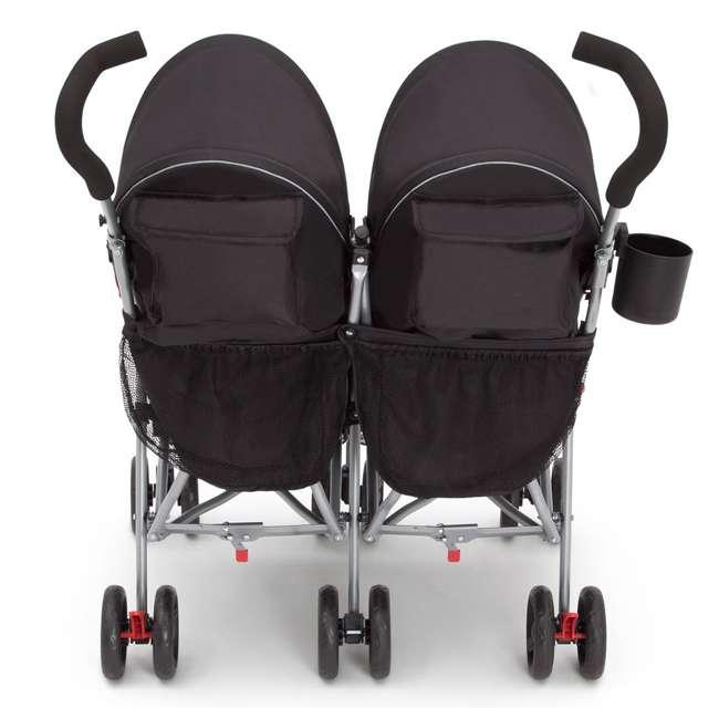 11709-2246 Delta Children LX Plus Side x Side Lightweight Double Stroller, Red Triangular 3