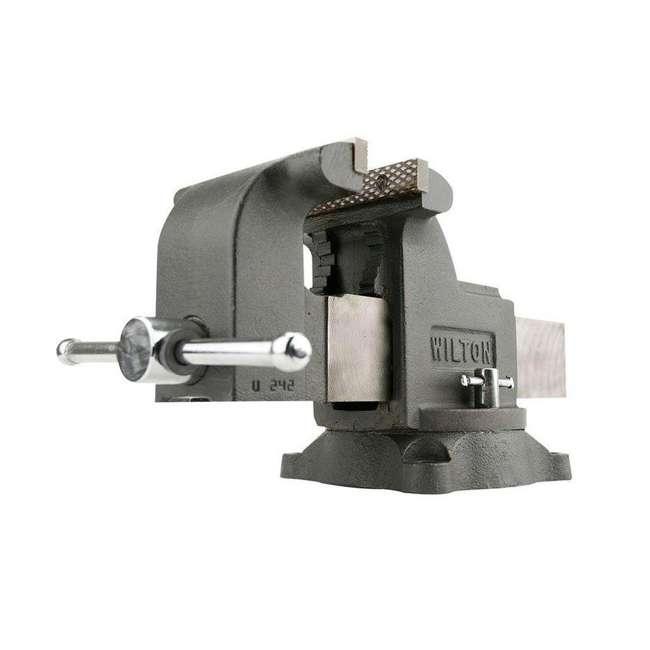 JPW-63304 + JPW-11110 Wilton WS8 8 Inch Steel Bench Vise w/ 3 Ball Peen Kit 1