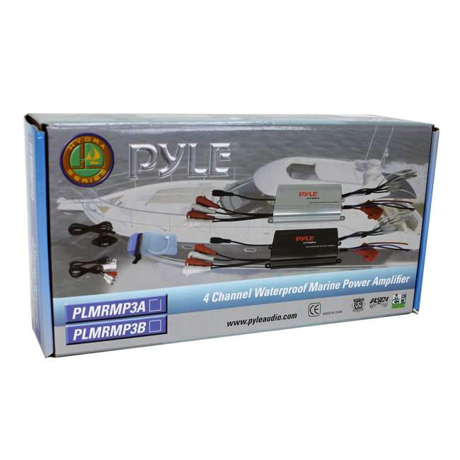 PLMRMP3B Pyle PLMRMP3B 800W 4-Channel Micro Marine Amplifier 9