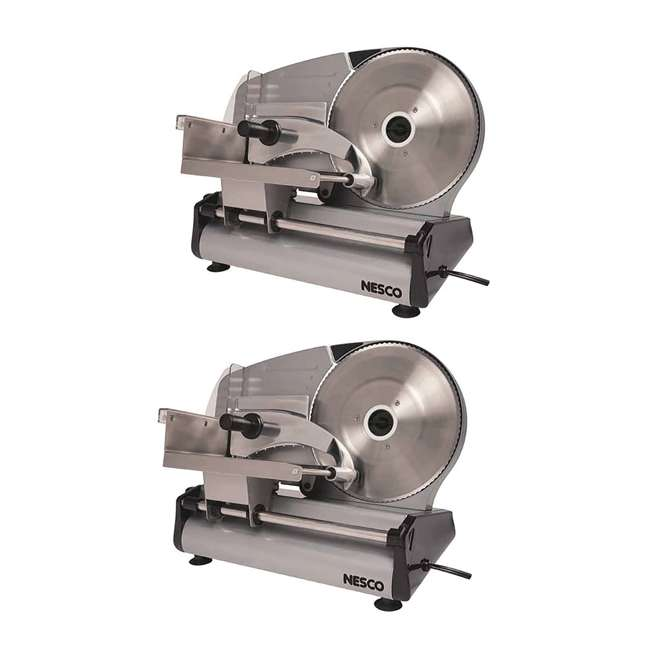 FS-250 Nesco FS-250 180-Watt Food Slicer w/ 8.7-Inch Blade (2 Pack)