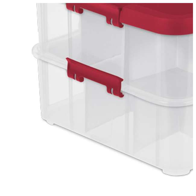 14276604-U-A Sterilite 24 Compartment Stack & Carry Christmas Ornament Box (Open Box)(2 Pack) 5