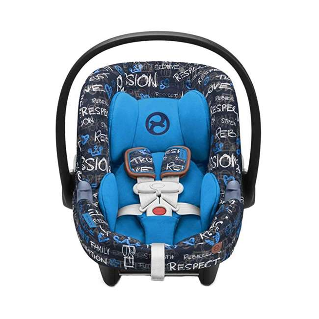 519001471 Cybex Aton M Adjustable 35 Pound Rear Facing Infant Baby Car Seat, Trust Blue
