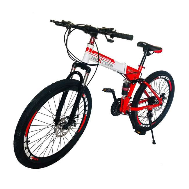 "MTB015-R NextGen 26"" 21 Speed Shimano Foldable Hardtail Downhill Mountain Bike Bicycle 1"