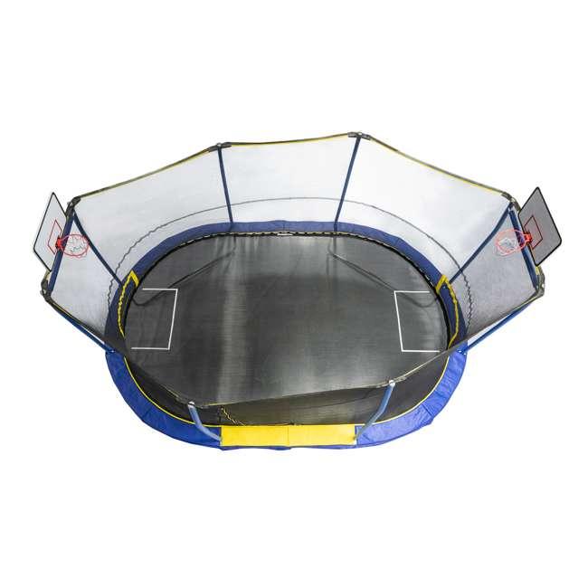 JK1015OVBHSG JumpKing JK1015OVBHSG 10 x 15 Foot Trampoline with Enclosure & Basketball Hoops