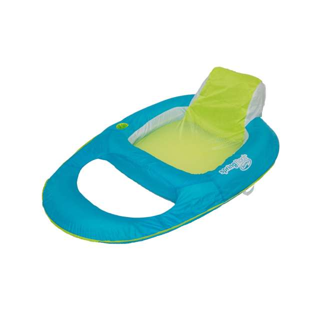 6047200-SW + 6047199-SW SwimWays Inflatable Pool Lounger w/ SwimWays Swimming Pool Recliner 1