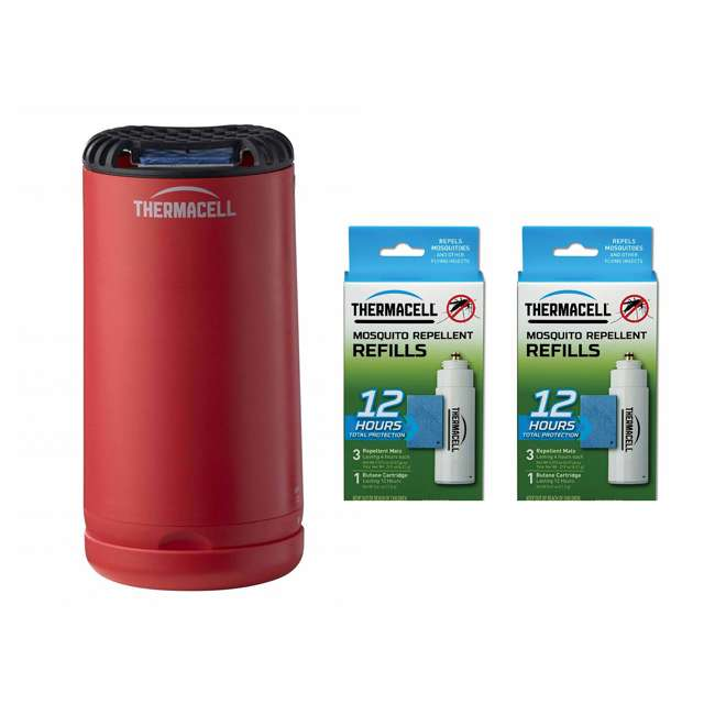 MRPSR Thermacell Outdoor Insect Repeller & 12-Hour Mosquito Repellent Refill (2 Pack)