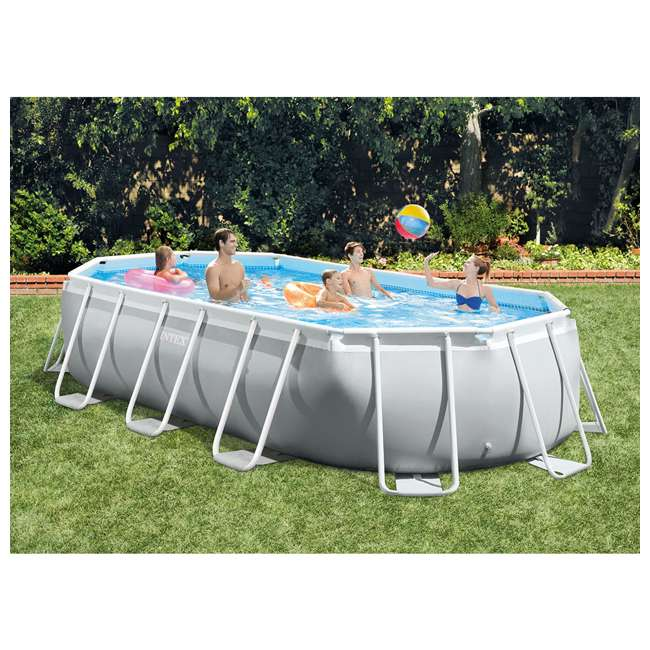 26795EH + 6 x 29000E Intex 16.5 Foot Rectangular Pool Set w/ Filter (6 Pack) 7