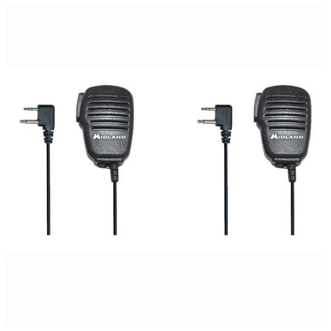 BA4 Midland Biztalk BA4 Speaker Mic for BR200 UHF Business Radio (2 Pack)