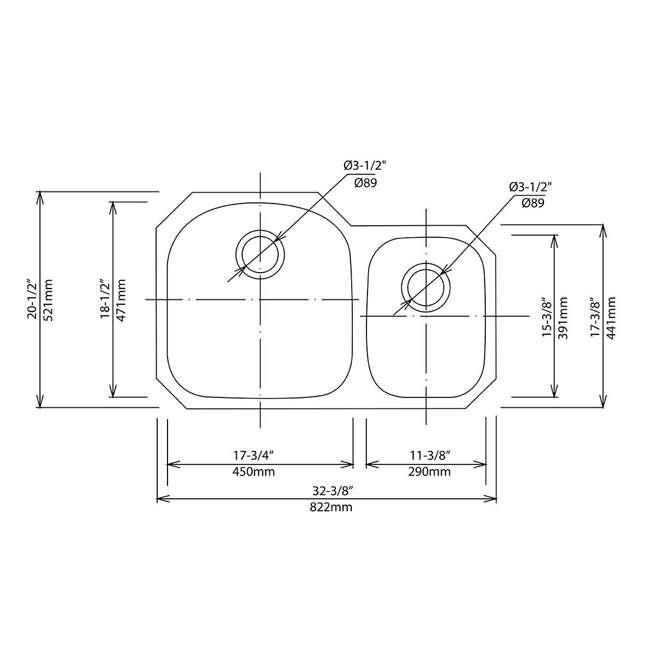 KBU23E-OB Kraus Outlast 33-Inch Stainless Steel Undermount Double Bowl Sink (Open Box) 4