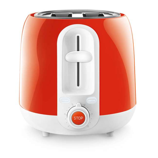 STS2704RD-NAA1 Sencor STS2704RD Electric Toaster with Electronic Timer and Crumb Tray, Red 1