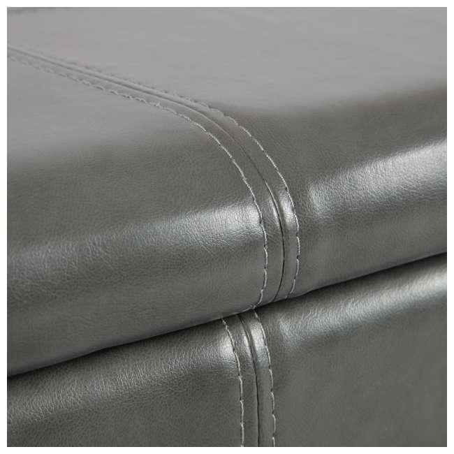 501 American Furniture Classics 501 Gun Concealment Storage Bench, Gunmetal Gray 1