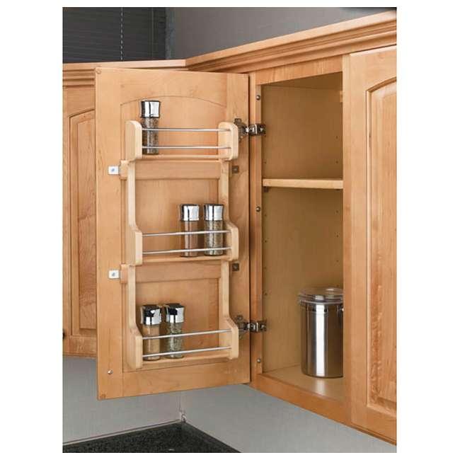 4SR-15 Rev-A-Shelf 4SR-15 Small Cabinet Door Mount Wood 3 Shelf Storage Spice Rack 2