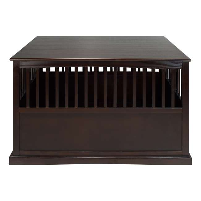600-84 Casual Home Extra Large Pet Crate End Table, Espresso 1