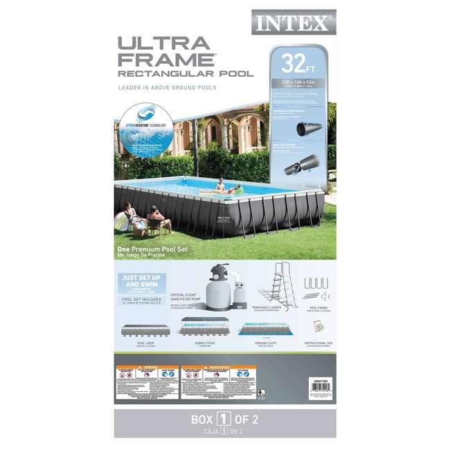 28371EH Intex 32 x 16 x 4.3 Foot Ultra Frame Rectangular Pool Set 4