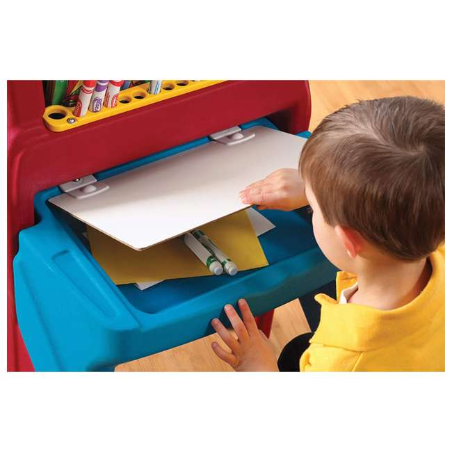 811000 Step2 Art Easel Dry Erase Board and Desk 4