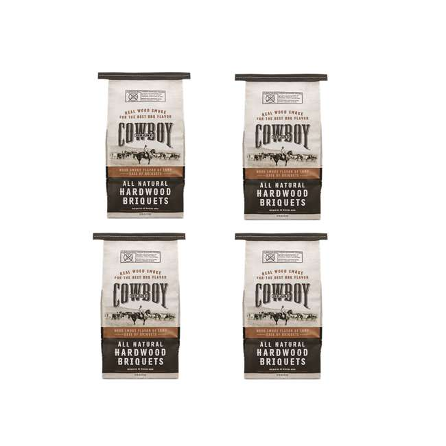 4 x 26014 Cowboy 14 LB All Natural Range Hardwood Charcoal Briquets for Grilling (4 Pack)