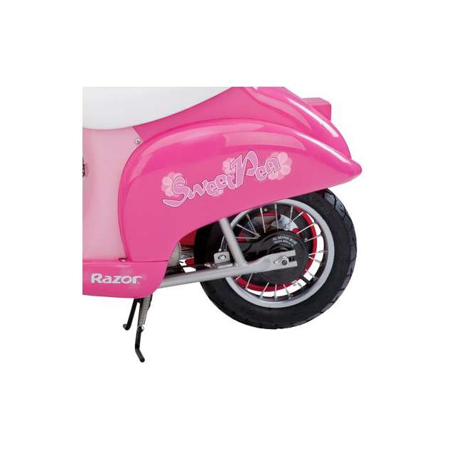 15130659 + 97783 + 96761 Razor Electric Retro Kids Scooter, Pink w/ Youth Sport Helmet, Elbow & Knee Pads 4