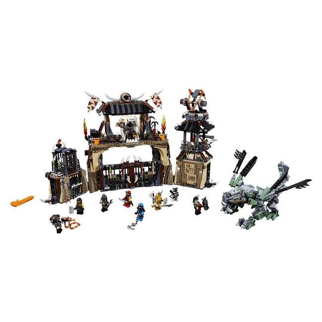 6212703-U-A LEGO NINJAGO Dragon Pit 1660 Piece Castle Set 9 Minifigure Characters (Open Box)