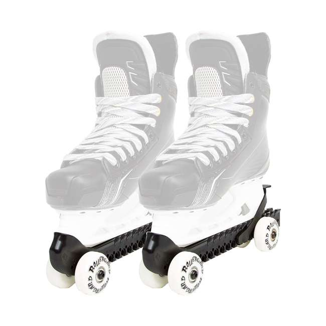 0G144500T1A-L + 44374-B Rollerblade Bladerunner Micro Ice G Skates, Large, & Skate Guard Rollers (Pair) 4