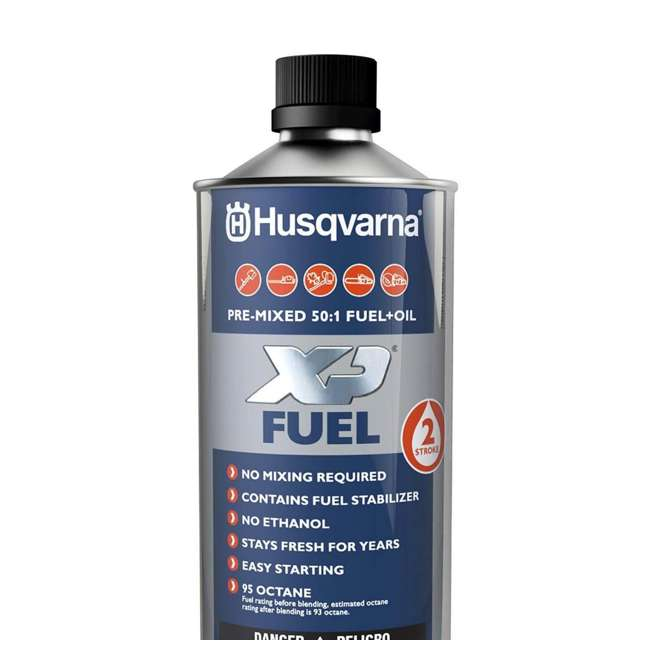 HV-FUEL-581158701 - (6 PACK-FULLCASE) Husqvarna XP Pre-Mixed Fuel and Engine Oil Quart (6 Pack) 2