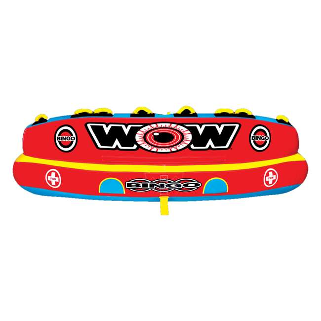 14-1080 Wow Bingo 2 Inflatable 2 Person Seating Ride Cockpit Towable Water Sports Tube  6