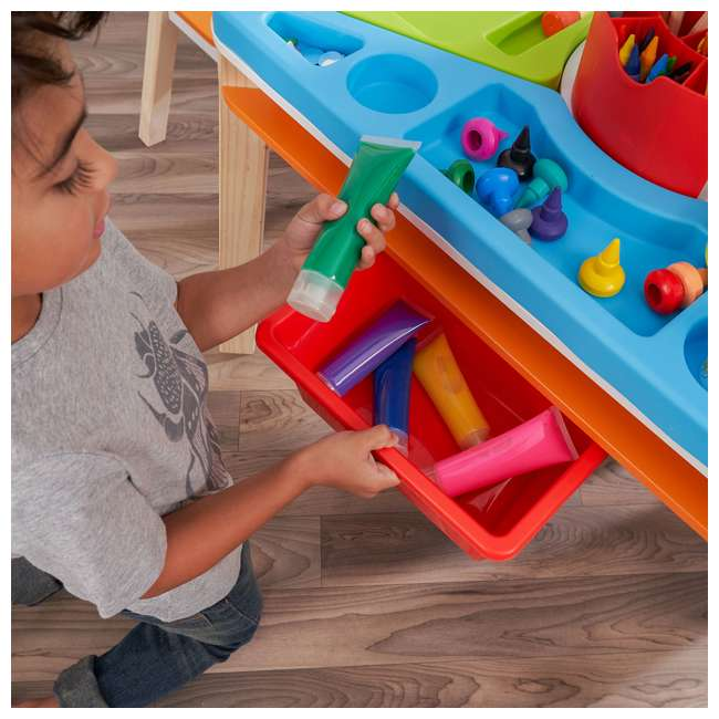 10091 Kidcraft 10091 Ultimate Creation Station Kids Activity Art Table with Two Stools 5