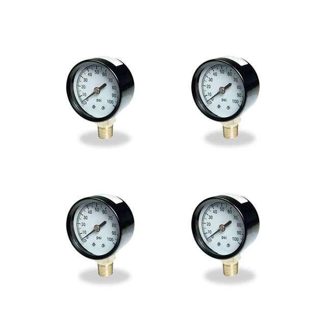 4 x TC2104-P2 Flotec Brands2O TC2104 P2 Well Water Pump Pressure Gauge (4 Pack)