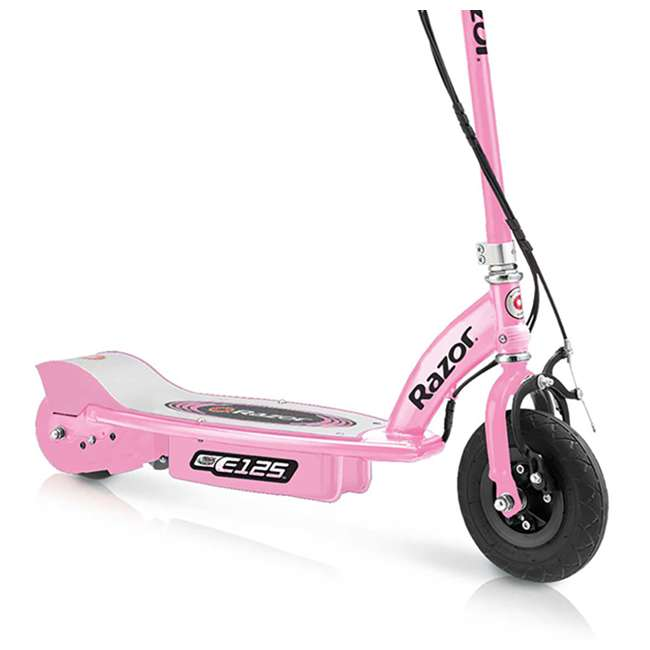 13111163 + 13111141 + 13125E-BK Razor E125 Motorized Rechargeable Electric Scooters, 1 Pink, 1 Blue, & 1 Black 8