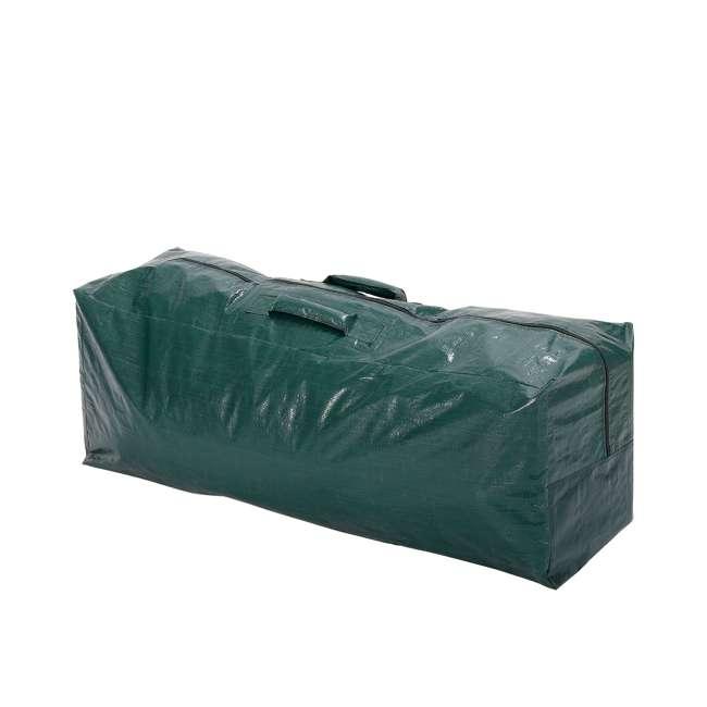 GX0911575033 Home Heritage 57.5 x 15.5 x 21.5 Inch Plastic Christmas Tree Storage Bag, Green