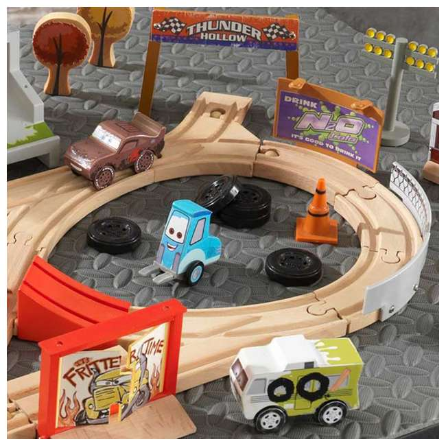 KDK-17212 Kidkraft Disney Pixar Cars 3 50 Piece Thunder Hollow Set  5