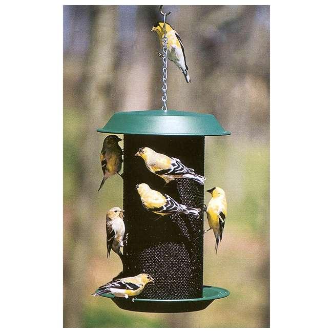 24501 Woodlink Magnum 4-Quart Nyjer Thistle Seed Hanging Screen Bird Feeder, Green 2