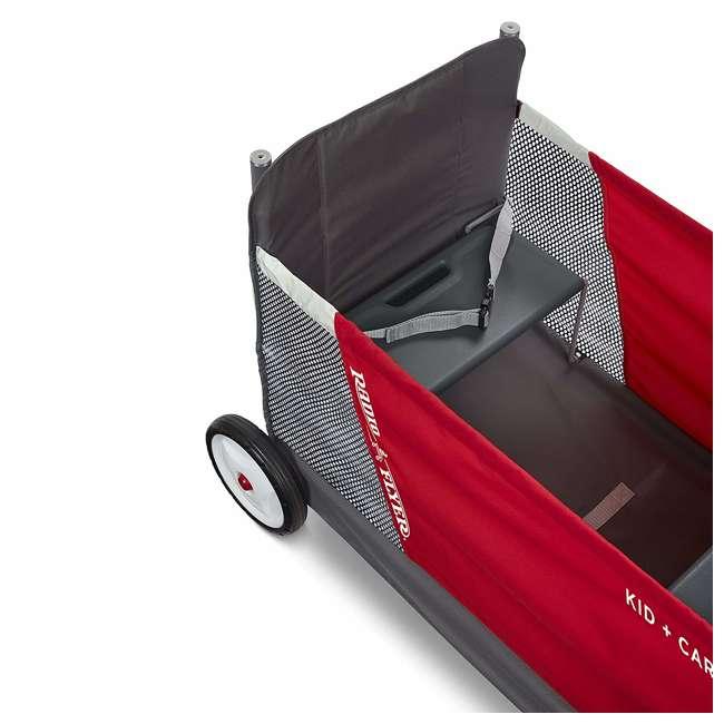 3965Z Radio Flyer Kid & Cargo 2 Seat Folding Wagon, Red 3