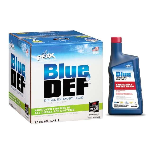 DEF002 BlueDEF Diesel Urea & Deionized Water 2.5 Gal JugPEAK Fuel Additive, 32 Ounces