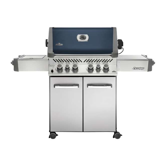 P500RSIBPB-1 + WS-61500 Napoleon Prestige Grill with Infrared Side and Rear Burners + Protective Cover 1