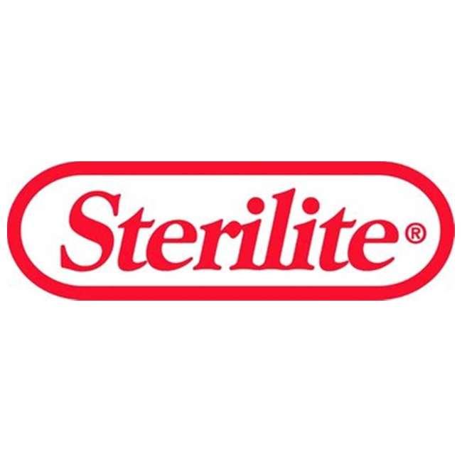 6 x 10738002 Sterilite 12.6 Gal Locking StepOn Garbage Wastebasket, White (Open Box) (6 Pack) 2