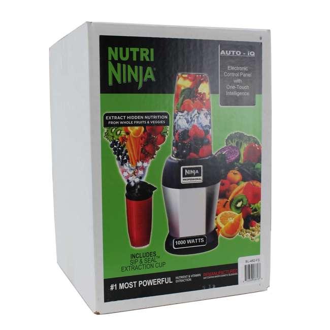BL482_EGB-SV-RB-U-A Nutri Ninja Auto iQ 1000W Blender with Pulse (Certified Refurbished) (Open Box) 1