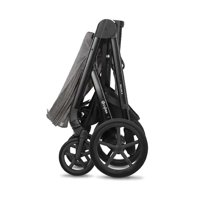 518001059-U-A Cybex Balios S 3 in 1 Folding Stroller, Lava Stone Black (Open Box) 5