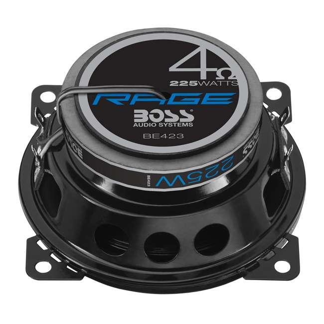 8 x BE423 Boss Rage 4-Inch 3-Way 225W Full Range Speakers (8 Pack) 4