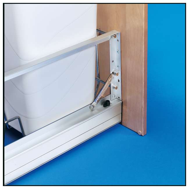 5349-1527DM-2 Rev-A-Shelf 5349-1527DM-2 Double 27 Quart Base Cabinet Pull Out Waste Container 1