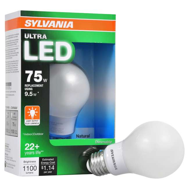 Sylvania Ultra 75-Watt Equivalent LED Dimmable Daylight ...