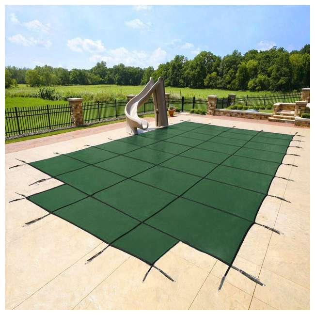 DG204058S Yard Guard 20 x 40 Feet w/ 8 Feet Center End Steps Pool Cover, Green (2 Pack) 1