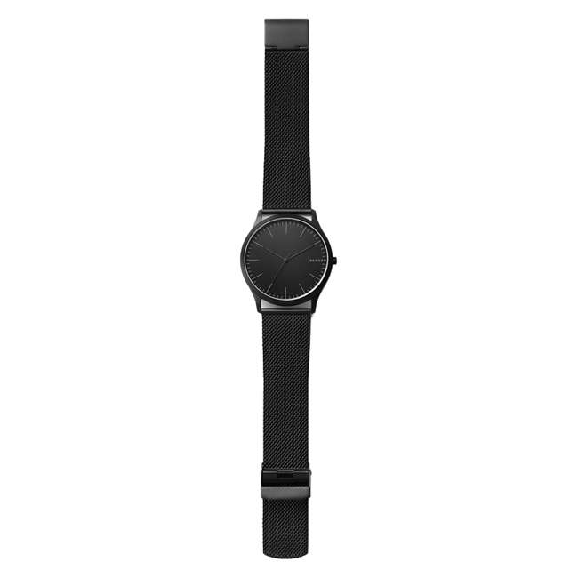SKW6422-U-B Skagen Jorn 41mm 3 Hand Mens Wrist Watch with Black Mesh Band, Black Face (Used) 1