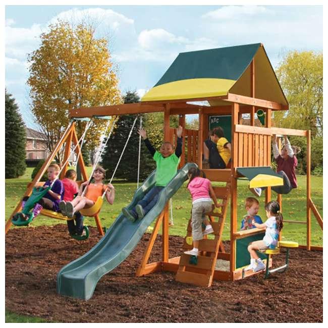 F23242 KidKraft F23235 Brookridge Childrens Wooden Outdoor Swing Set Playset Playground 1