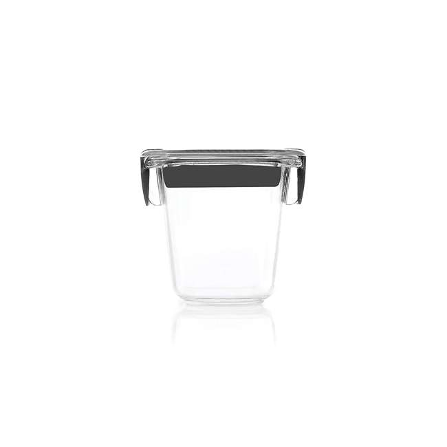 1991154 Rubbermaid Brilliance Food Storage Container, Mini, 0.5 Cup, Clear, 2 Pack  1