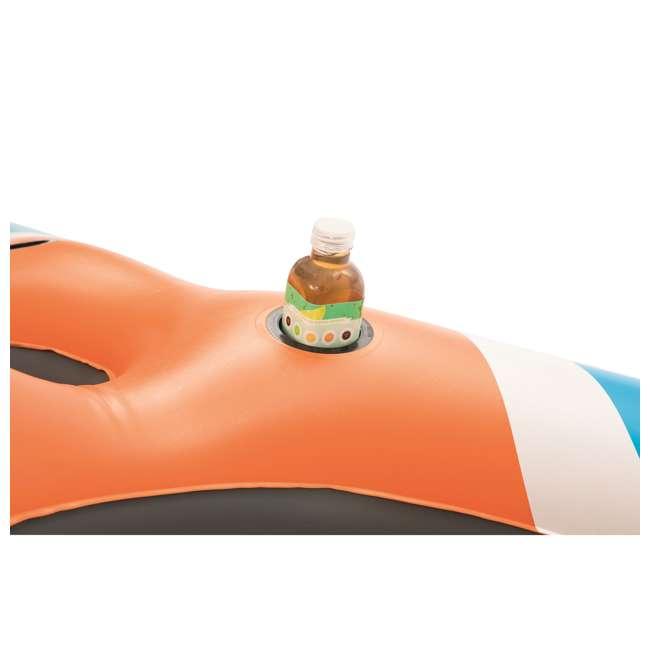 6 x 43115E-BW-U-B Bestway Rapid Rider 4-Person Floating Island Raft w/ Coolers (Used) (6 Pack) 2