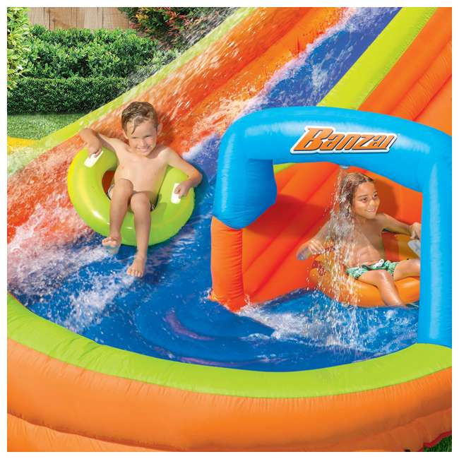 BAN-90354-U-A Banzai Kids Inflatable Outdoor Lazy River Adventure Water Park (Open Box) 4