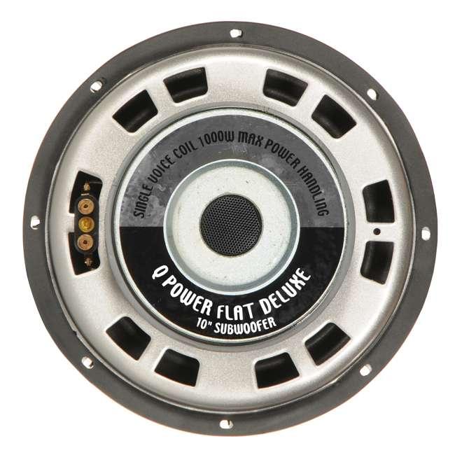 4 x QPF10-FLAT Q Power Deluxe 10 Inch 1000 Watt Flat Subwoofer (4 Pack) 2