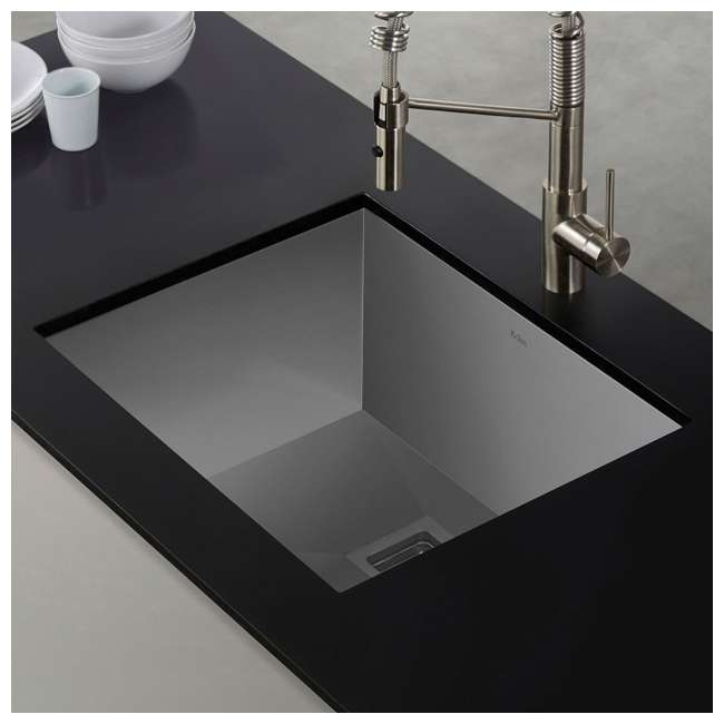 KHU23 Kraus Pax 22.5-Inch Rectangular Undermount Kitchen Sink (2 Pack) 4